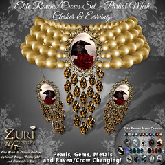 FatPack Zuri's Ravens Choker & Earrings Elite-PMesh FPack