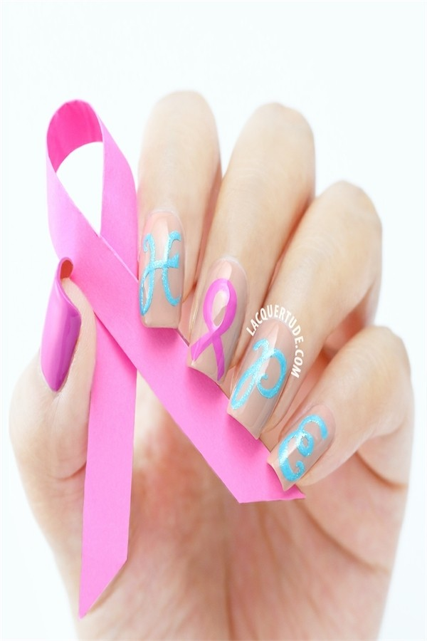 Pretty Breast Cancer Manicure you must try