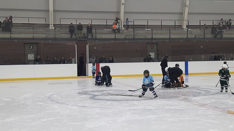 Watching beginner hockey