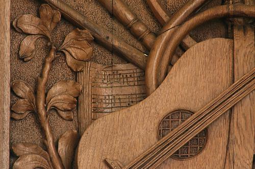 Zandeweer, Groningen, Hervormde kerk, organ balcony, detail