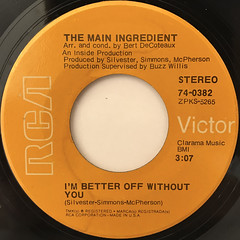 THE MAIN INGREDIENT:NEED HER LOVE(MR. BUGLER)(LABEL SIDE-B)
