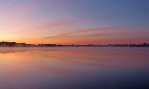 water sun lake michigan orange sunrise fall whitmorelake blue whitmore veil calm sky horizon october thursday clouds cloudscapes cloud cloudy