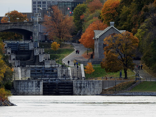 Locks 1-8 of the Rideau Canal in Ottawa, Ontario