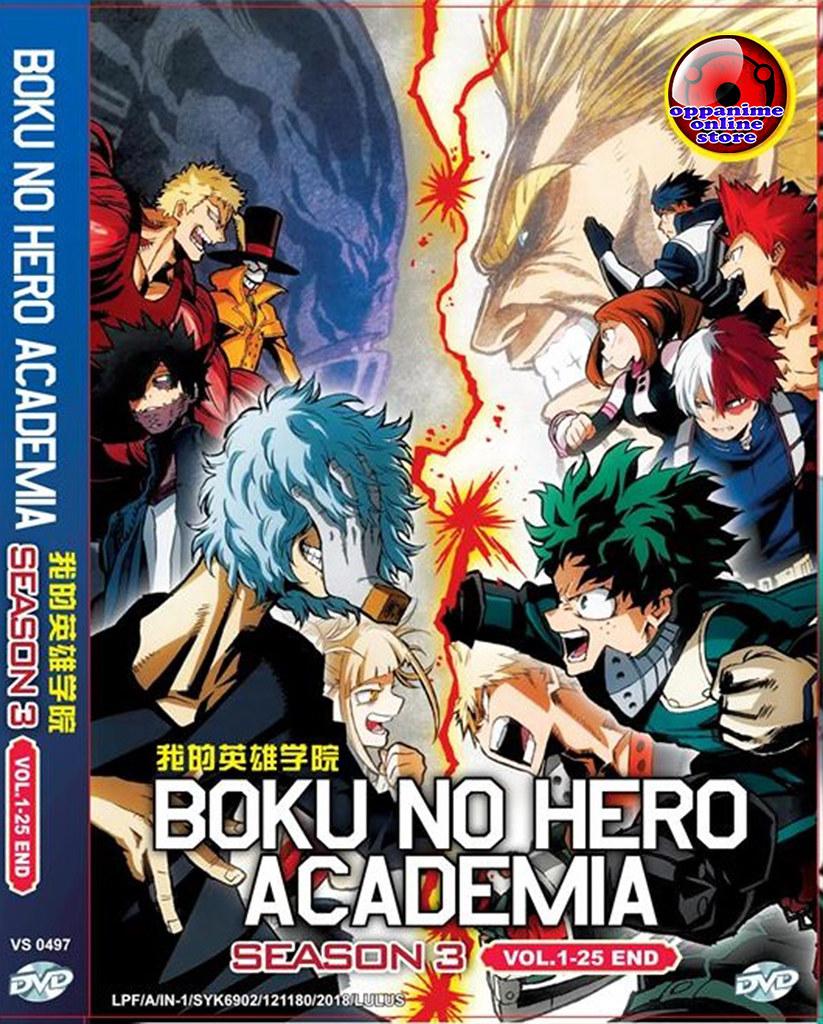 Boku No Hero Academia Season 3 Vol.1-25 End Anime DVD English Dubbed