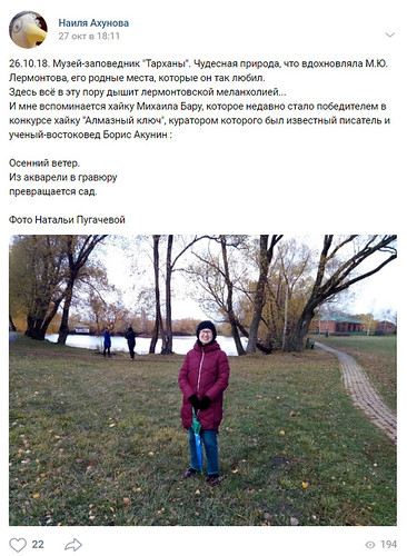 Отзыв пользователя ВКонтакте: Наиля Ахунова