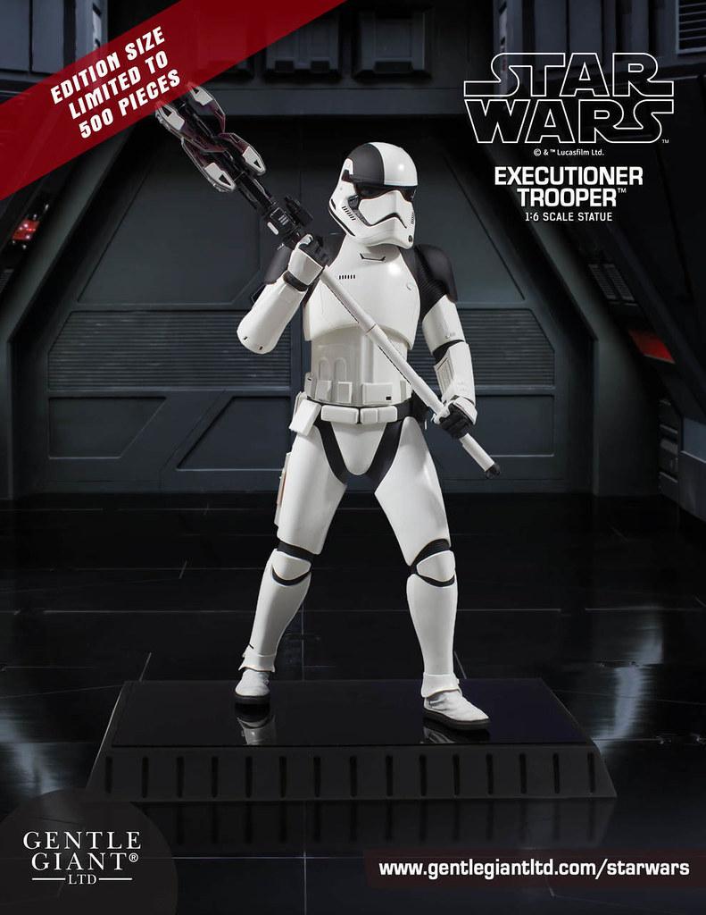 結果這次又讓芬恩給逃了啊...... Gentle Giant《STAR WARS:最後的絕地武士》處刑者風暴兵 Executioner Trooper 1/6 比例全身雕像作品