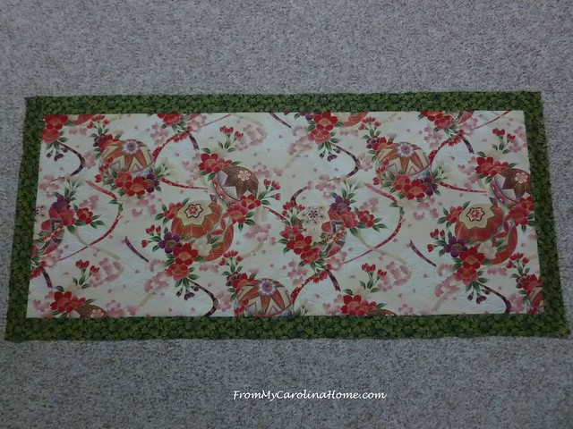 Asian Print Christmas Table Runner at FromMyCarolinaHome.com