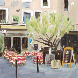French Cafe - ArtRage