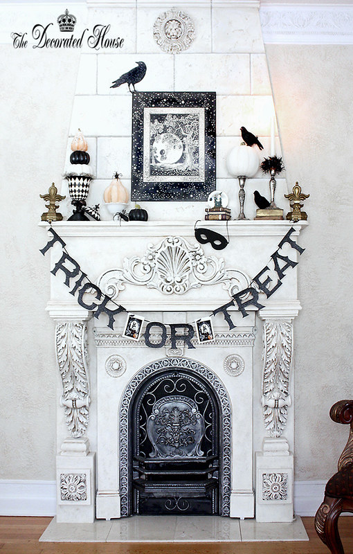 7 Beautifully Decorated Halloween Mantels