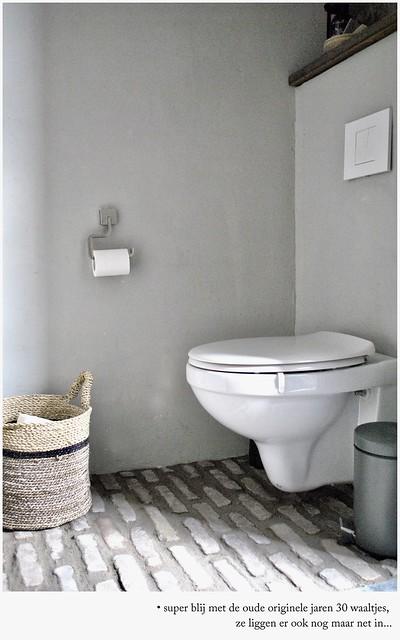 Waaltjes toilet beton cire landelijk