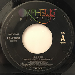 B-FATS:I FOUND LOVE(LABEL SIDE-A)