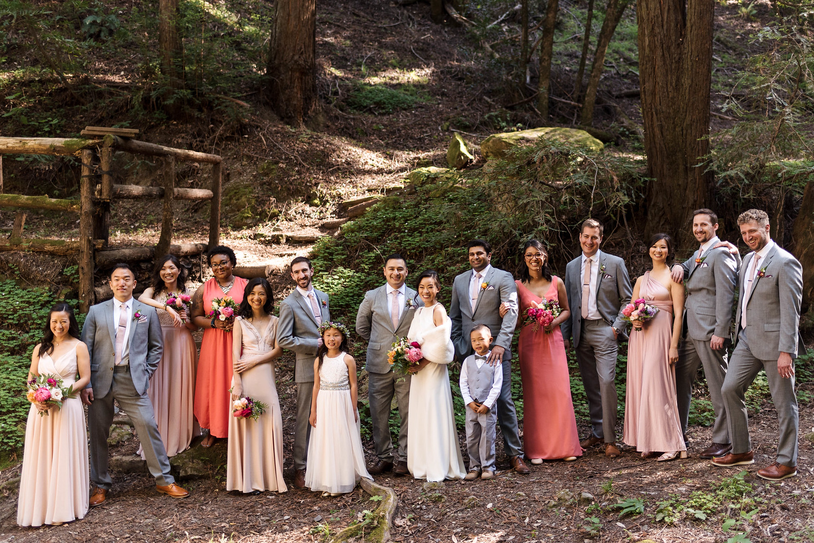 Mismatched Wedding Party on juliettelaura.com