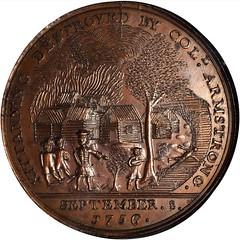 Kittanning Destroyed Medal obverse