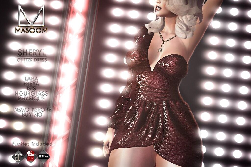[[ Masoom ]] Sheryl Glitter Dress @ Access Event