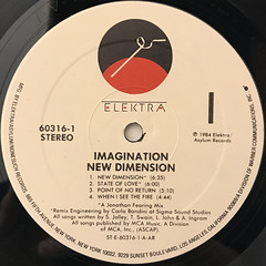 IMAGINATION:NEW DIMENTION(LABEL SIDE-A)