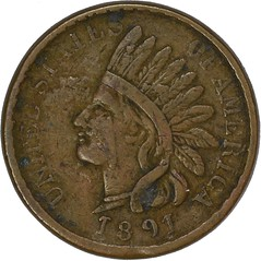 1891 Indian Cent contemporary counterfeit