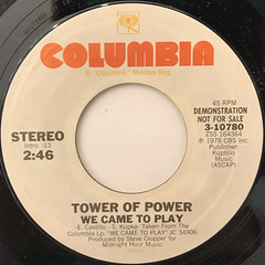 TOWER OF POWER:WE CAME TO PLAY(LABEL SIDE-A)