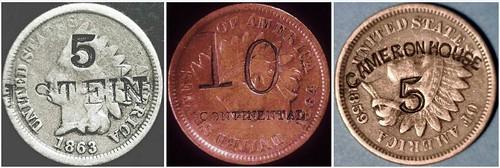 redenominated U.S coins - Stein, Continental, cameron House