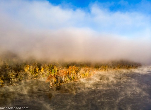 Foggy New River, Radford VA.