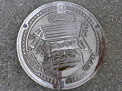 Mihara Hiroshima, manhole cover 2 (広島県三原市のマンホール2)