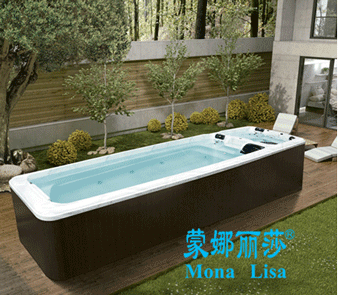 outdoor swim spa