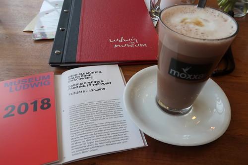 """Moxxa Moccacino im Café-Restaurant """"Ludwig im Museum"""" (als Pause beim Besuch der Gabriele Münter Ausstellung)"""