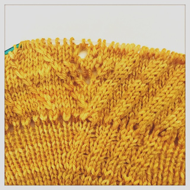 Sunshine Shawl WIP