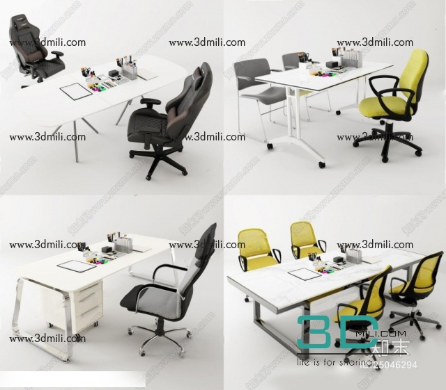 209  Sell Album Office Tables 01 - 3D Mili - Download 3D Model - Free 3D  Models - 3D Model Download