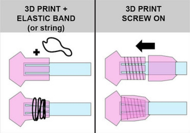 Optic-fiber 3D print coupling...