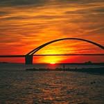 Sonnenuntergang Fehmarnsund Brücke - Schleswig-Holstein - Germany