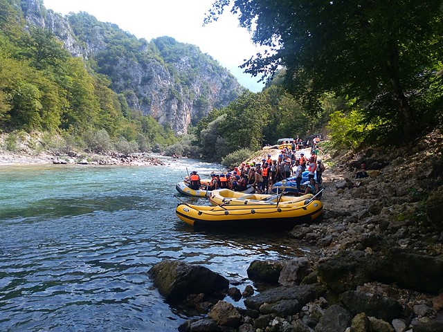 We do rafting on Neretva river