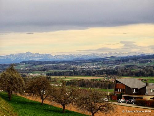 Ostschweizer Alpenpanorama (Säntis und Churfirsten)
