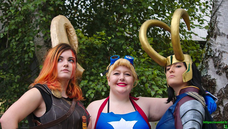 Cosplay Trio Super Héroines