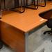 E135 corner beech desk