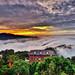 雲洞~火燒夕陽雲海~  Clouds sunset by Shang-fu Dai