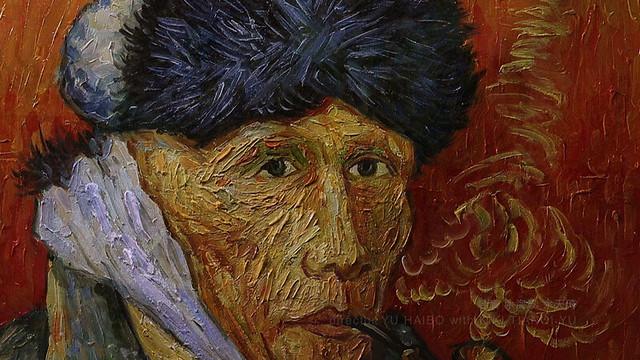 『包帯をしてパイプをくわえた自画像』ChinasVanGoghs-Selfportrait