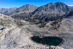 Rae Lakes view from Glenn Pass
