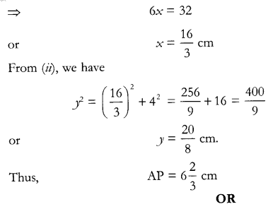 CBSE Sample Papers for Class 10 Maths Paper 12 Q 17.2