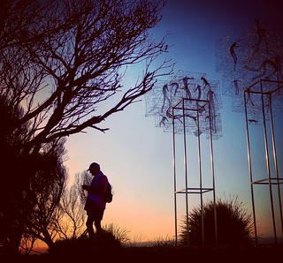Silhouettes at Sculpture by the Sea