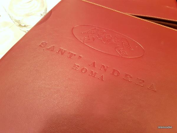 Ristorante Sant'Andrea menu cover