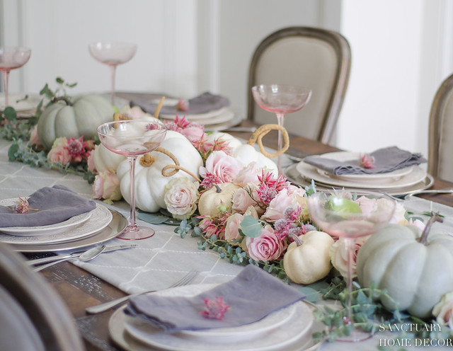 Fall Link Party Pastel Fall Table Setting