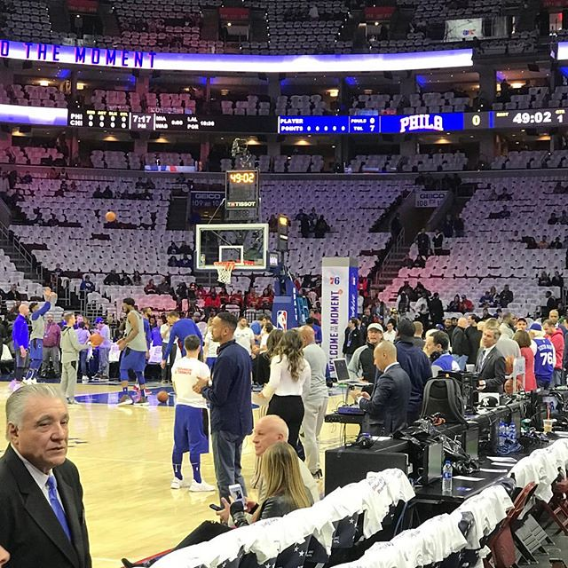 Pregaming the Sixers home opener #thisiswhyweplay #sixers