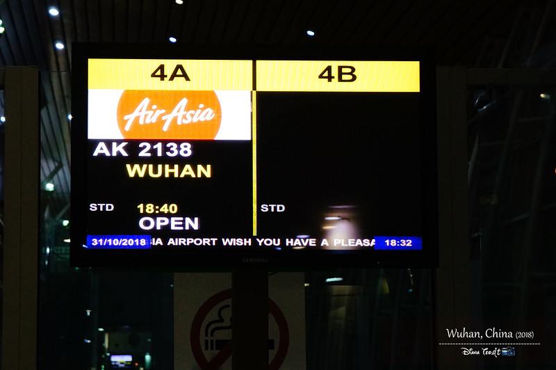 2018 China Wuhan AirAsia From Kota Kinabalu