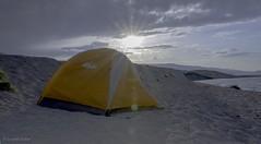 Camping at Lake Pyramid, Nevada