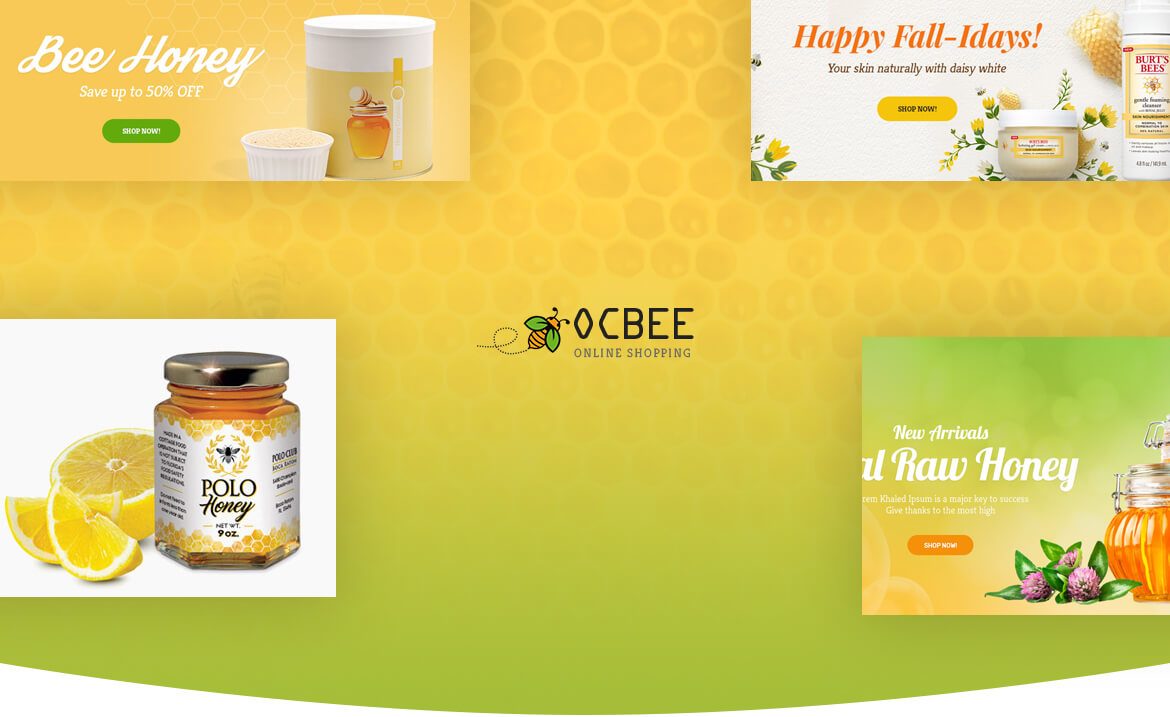 Bos Ocbee prestashop theme - honey, food, beauty store Prestashop 1.7 theme