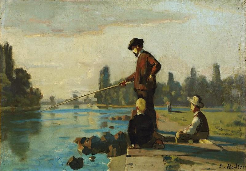 Ferdinand Hodler - Der Angler (c.1879)