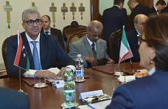 Libia: il Ministro Trenta riceve il Ministro dell'Interno Bashaga