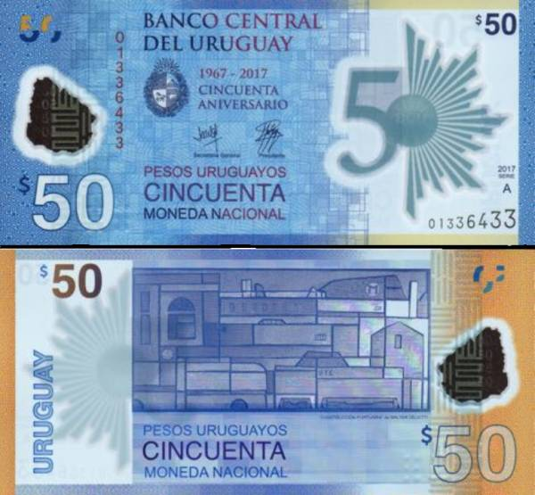 50 Pesos Uruguayos Uruguay 2017(2018), P100