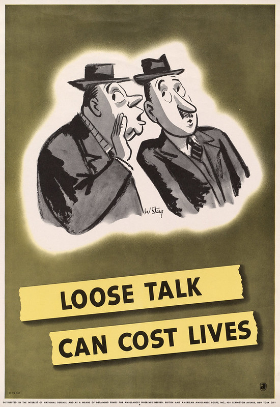 Loose talk can cost lives (1942) - William Steig (1907-2003)
