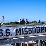 Изображение USS Missouri вблизи Hickam Field.
